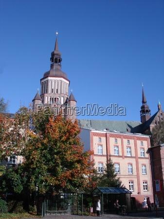 torre hansestadt sino stralsund mechlenburgvorpommern marienkirche