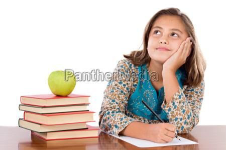 pensamento adoravel do estudante