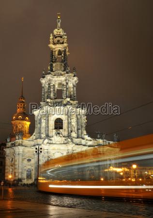 igreja electrico dresda canis hofkirche estrada
