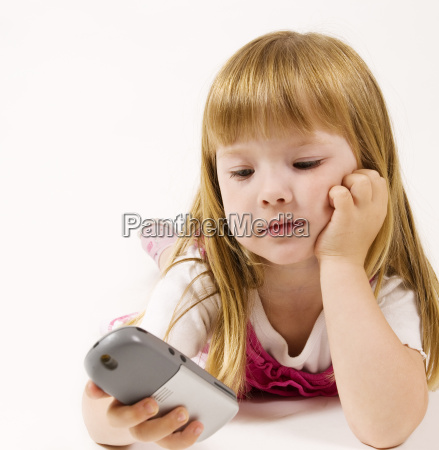 little girl calling up