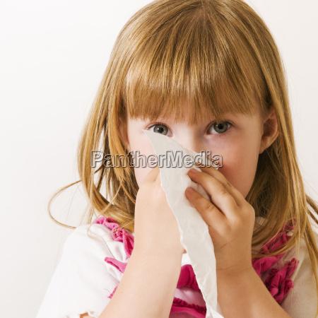 little girl with handkerchief front