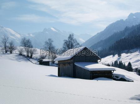alpes bavaria ferias de inverno paisagem