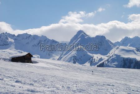 hut in the alps austria hochkrimml