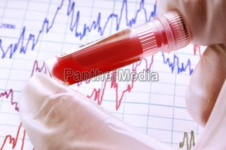 sangue tubo de ensaio verificar teste