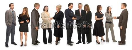 onze profissionais no branco