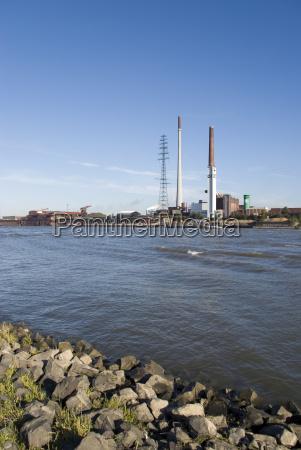 ambiente industria reno poluicao duisburg banco
