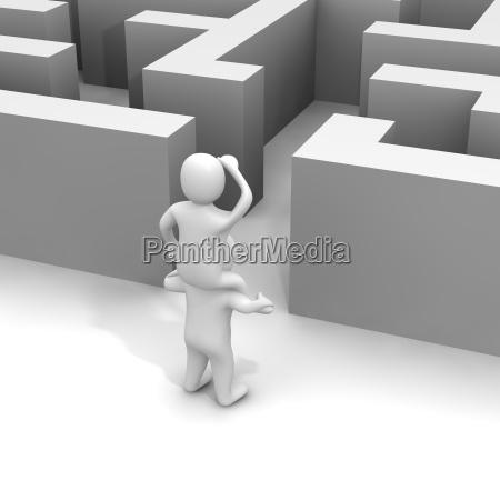 encontrando o trajeto atraves do labirinto