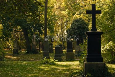 cemiterio com cruzes