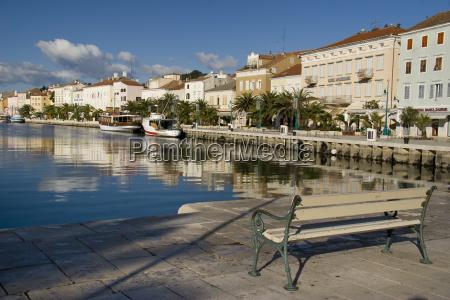 banco porto portas adriatico croacia vista