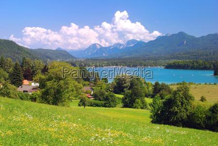 ferias alpes austria carinthia europa badesee