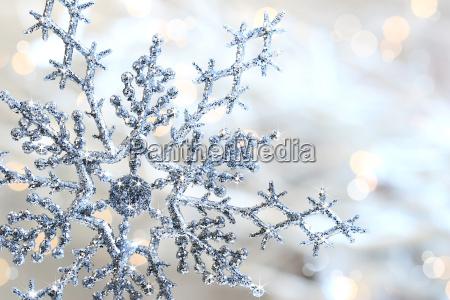 floco de neve azul de prata