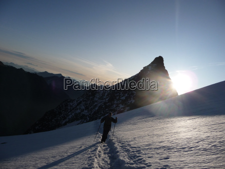 geleira manha hochtour montanha turne neve