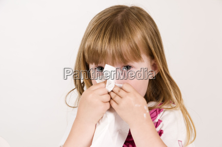blow a little girl s nose