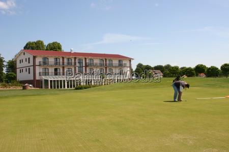 verde golfe campo de golfe jogador