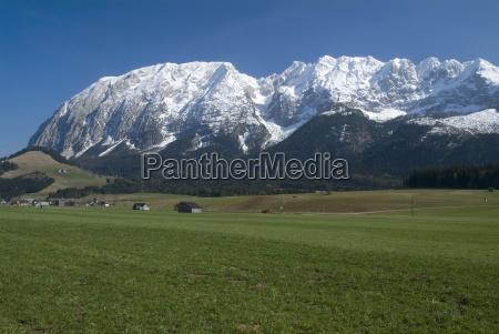 snow mountain meadow
