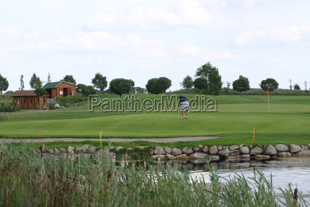 verde golfe campo de golfe bater