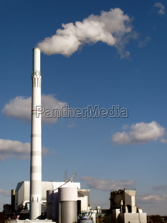 fumaca industria power station planta industrial
