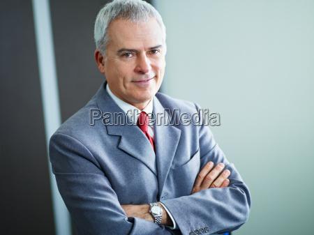 mature businessman in office