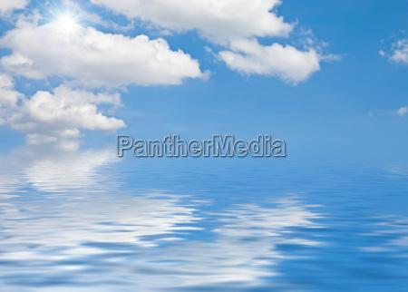 ceu agua salgada mar oceano agua