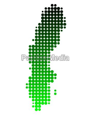 mapa da suecia