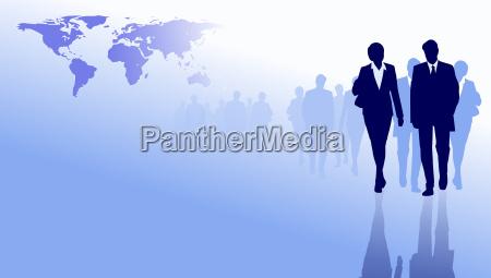 pessoas de negocios do mundo mapa