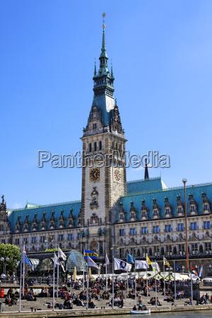 torre cidade hamburgo prefeitura quadrado estilo