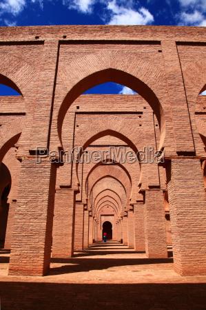 monumento antigo fortaleza marrocos mesquita idade