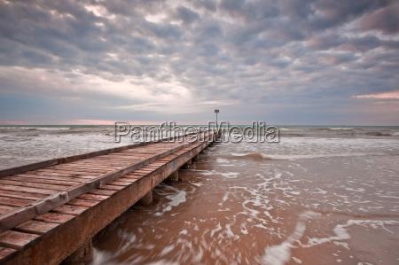 pier into the ocean