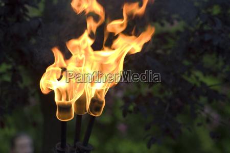 tocha de fogo medieval