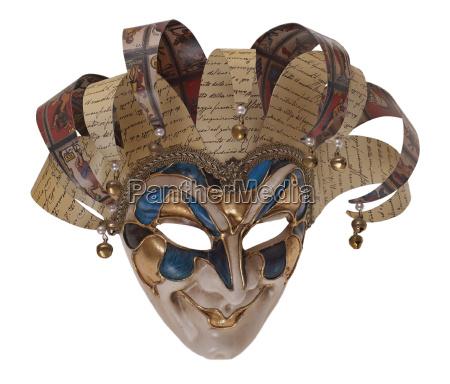 arlequim, máscara, de, madeira, arlekino - 3837422