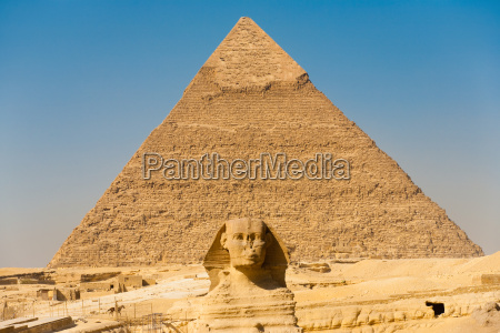 famoso esfinge piramides centralizado ponto de