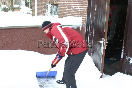 inverno geada neve homem