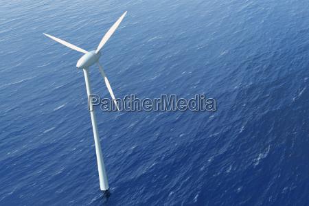 a turbina de vento na agua