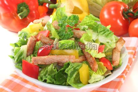 paprica pimentas salada tomate ervas saudavel