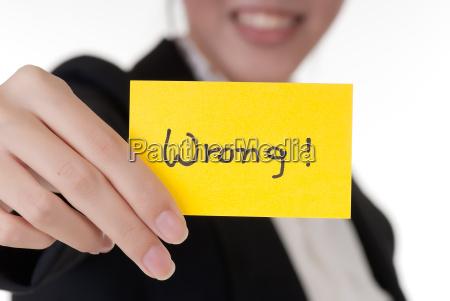 mulher closeup acordo negocio trabalho profissao