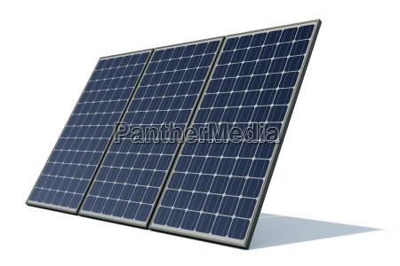 modulos solares de encontro a um