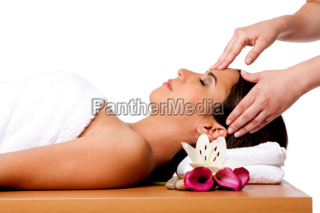 massagem facial no spa