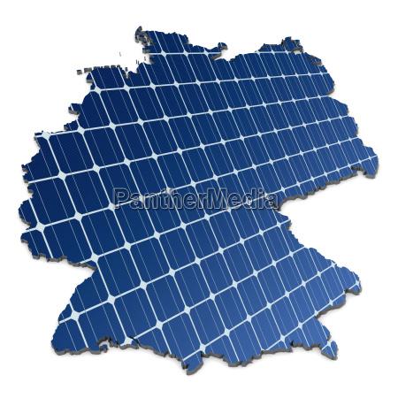 celulas solares monocristalinos em um mapa