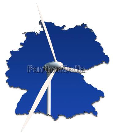 turbina de vento na frente do