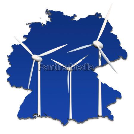 roda de poder do vento na