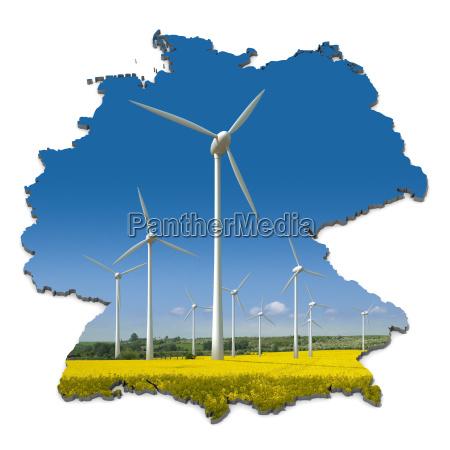 turbinas, eólicas, em, um, campo, de - 4048631