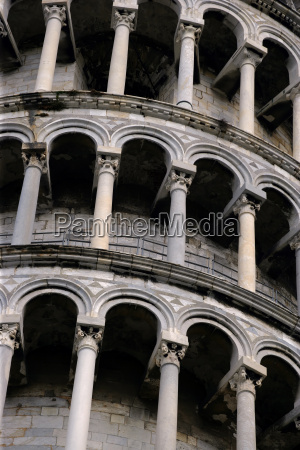 arches of the leaning tower of