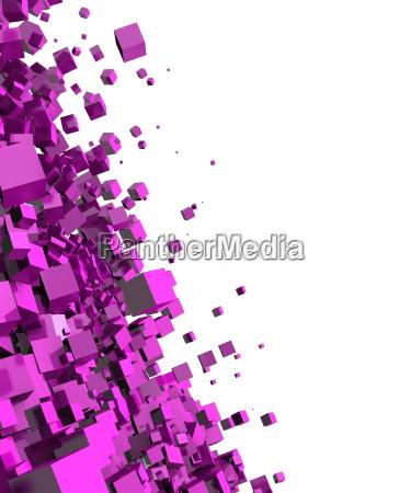 3d background rosa disco particula 2