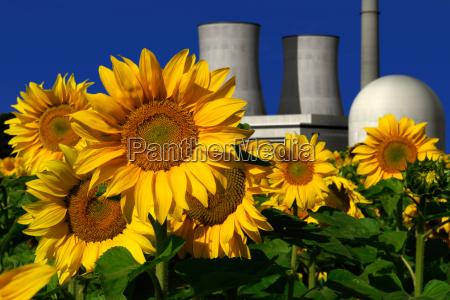 central energetica nuclear atras de um