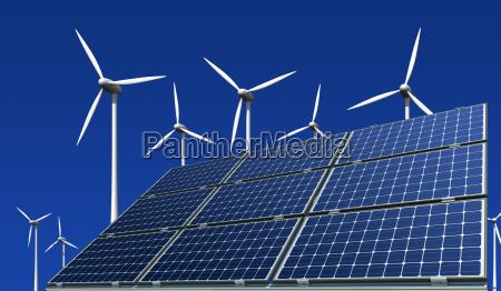 paineis solares monocristalina e turbinas eolicas