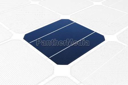 celula solar monocristalino em frente a