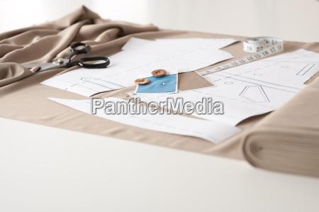estudio do desenhador de moda com