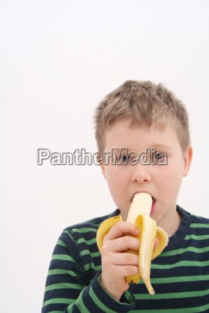 alimento fruta meninos caras banana jovem