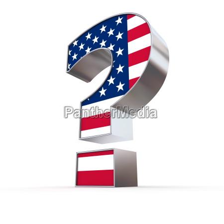 ponto de interrogacao dos estados unidos