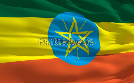 bandeira acenando da etiopia